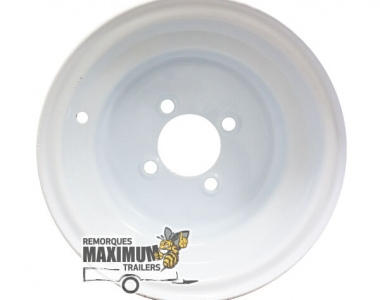 Rims 10 x 6 white 4 holes 2.50 hole in the heart