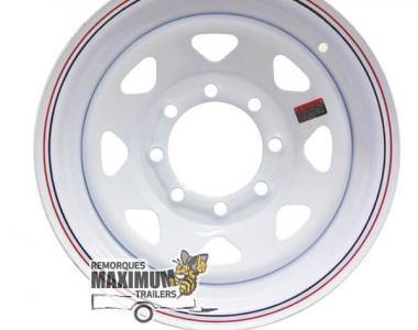 Rims 16 x 6 white rally 8 holes